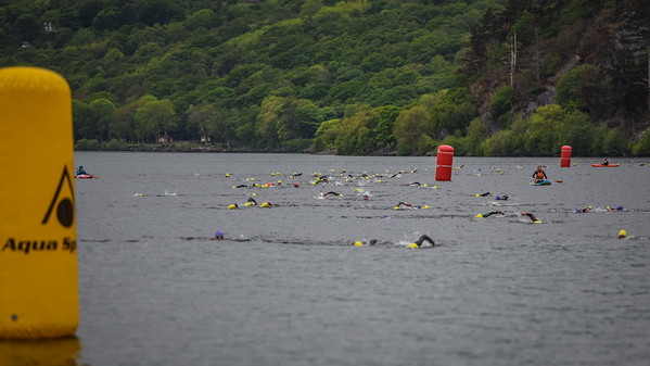 Sportpursuit Slateman Triathlon - Swim Exit Yellow Hats