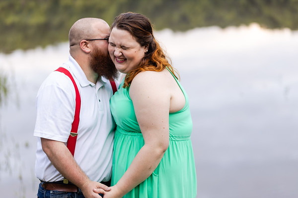 Sarah & Chad | Country Engagement Photography in Bahama, NC