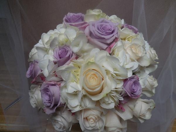White hydrangea- roses-$115-125