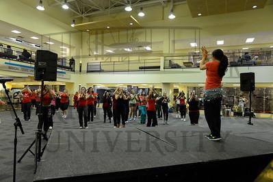 10531 Zumbathon in the Student Union Atrium 2-1-13