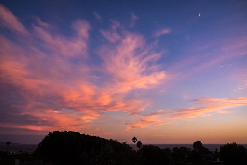 September 25 - Sunset and the moon.jpg