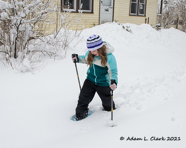 Liliana Tries Snowshoes 2/2/21