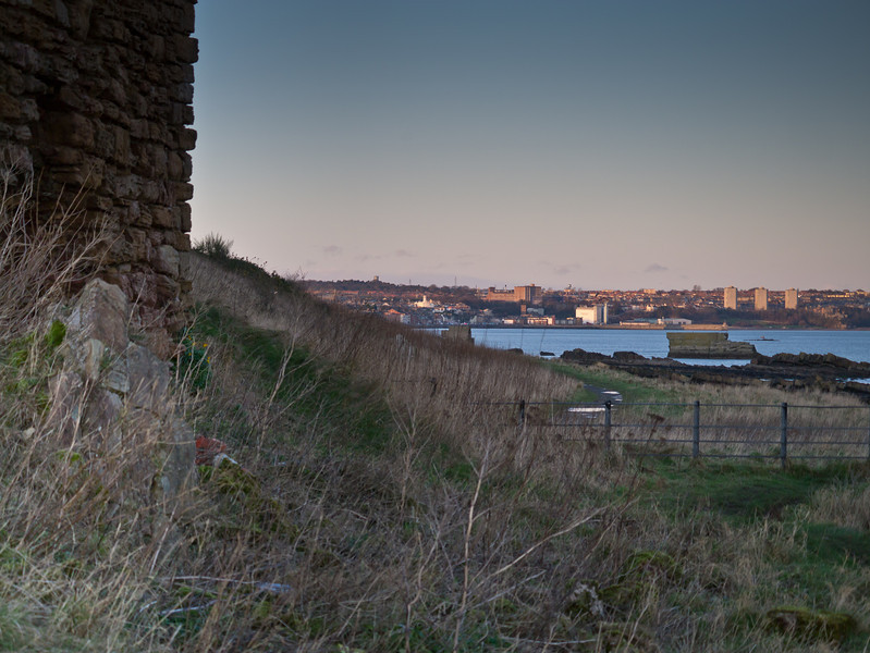 Looking back from Seafield tower to Kirkclady (at 45mm)