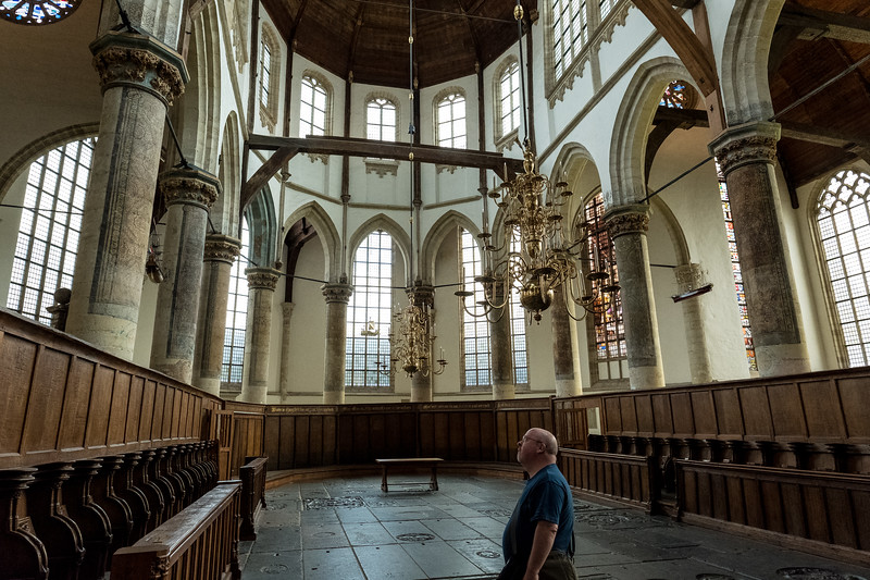 Absorbing The Visuals At The Oude Kerk