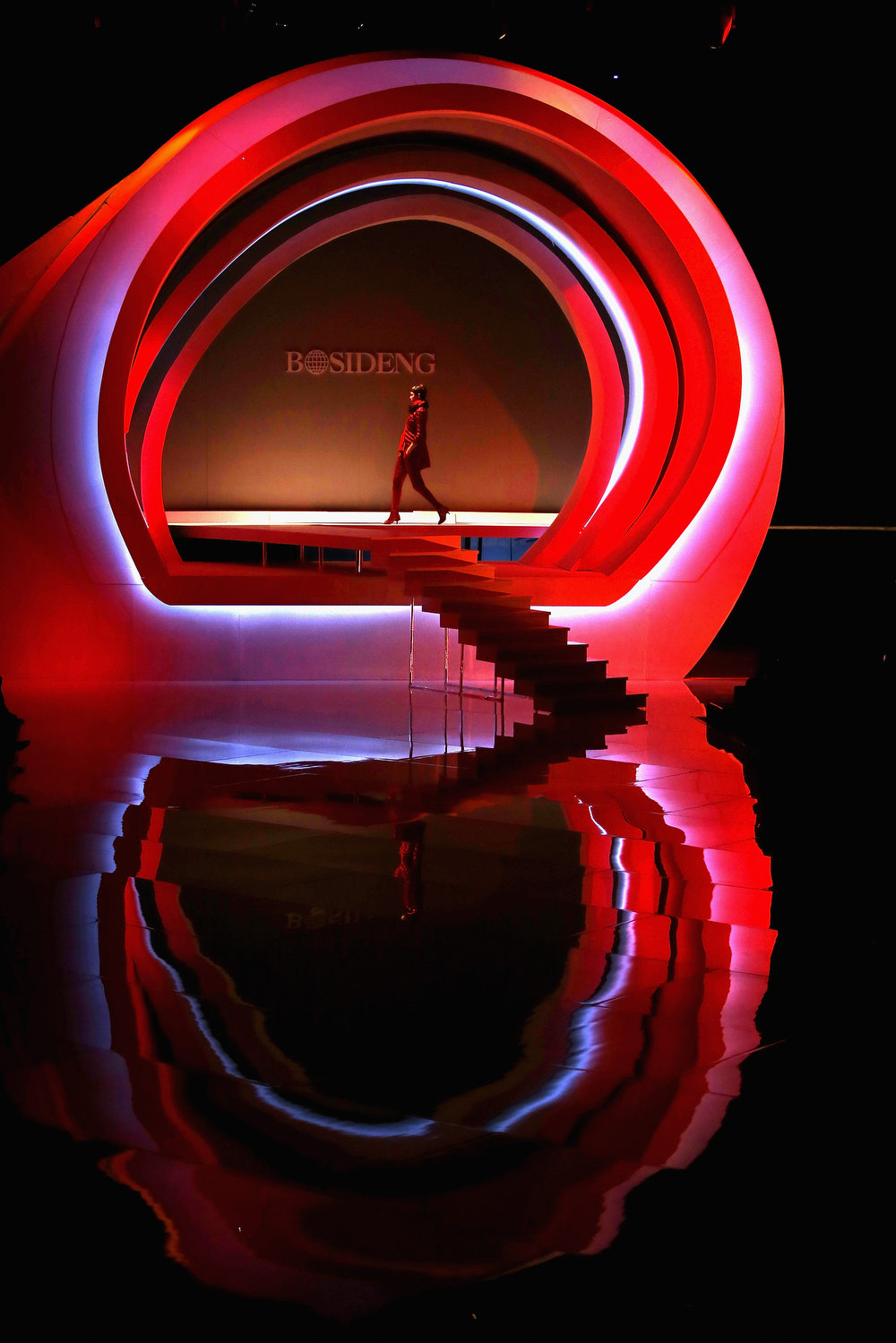 . A model showcases designs on the catwalk during BOSIDENG Down Wear Collection on the third day of Mercedes-Benz China Fashion Week Autumn/Winter 2013/2014  at 751 D.PARK Workshop on March 26, 2013 in Beijing, China.  (Photo by Feng Li/Getty Images)