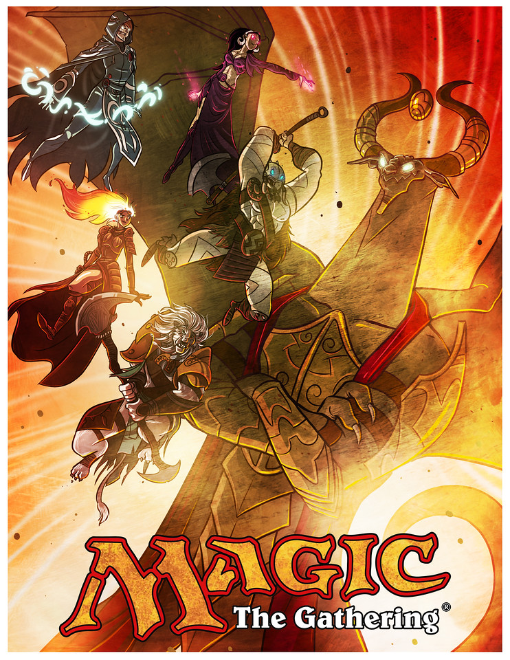 Magic the Gathering Coloring Book Cover