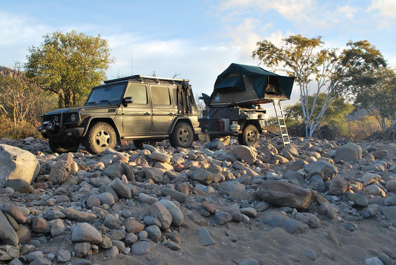 camp on the rocks