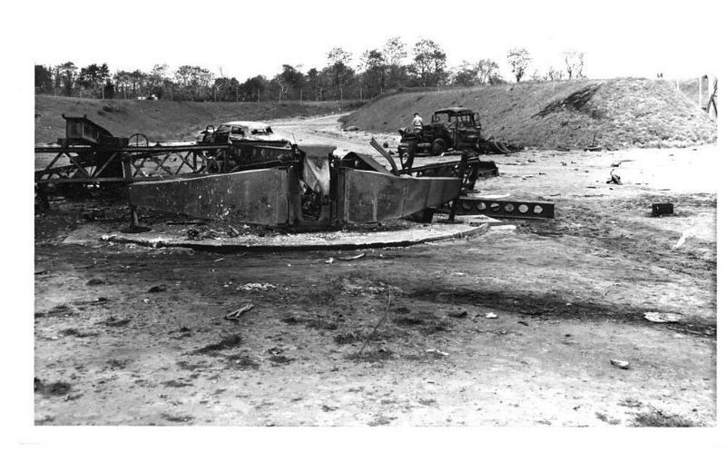 View of rear of launcher Nr 2.  22 May 1958