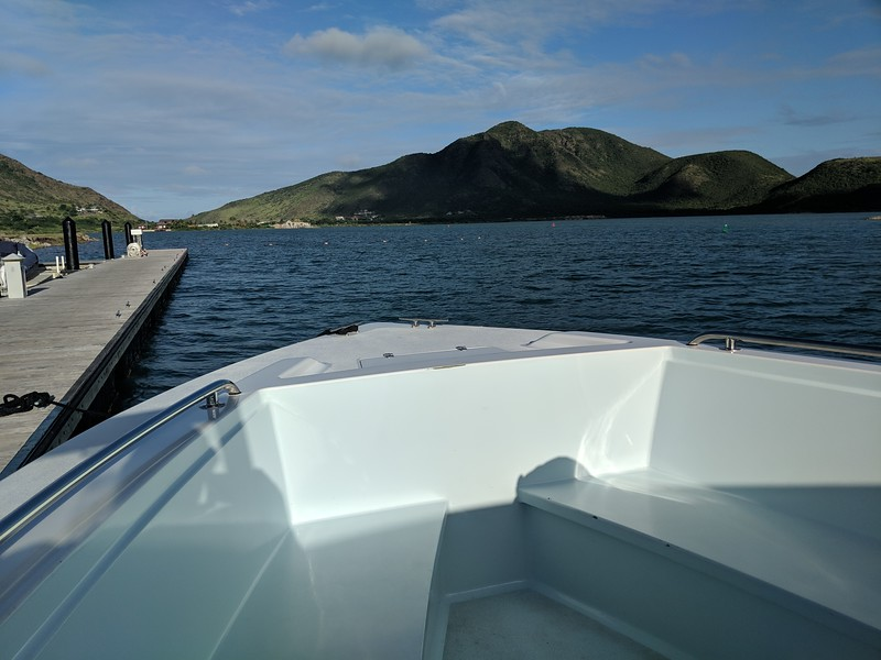 Hopped on a boat to take us to Nevis