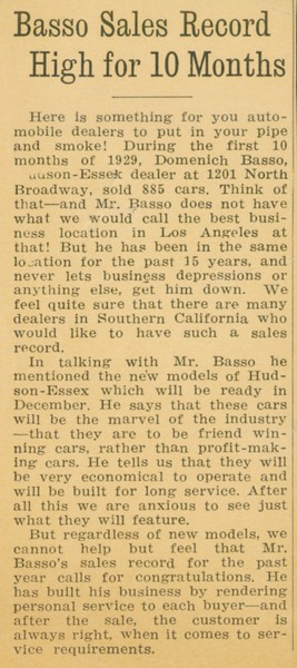 1929, Depression Car Sales
