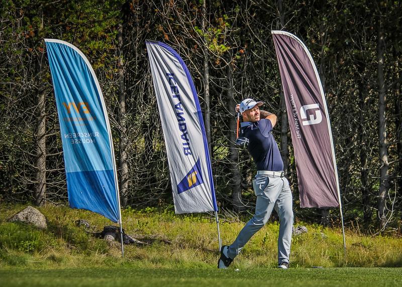 Henning Darri Þórðarson.  Íslandsmót golf 2019 Grafarholt - 1. keppnisdagur. Mynd: seth@golf.is