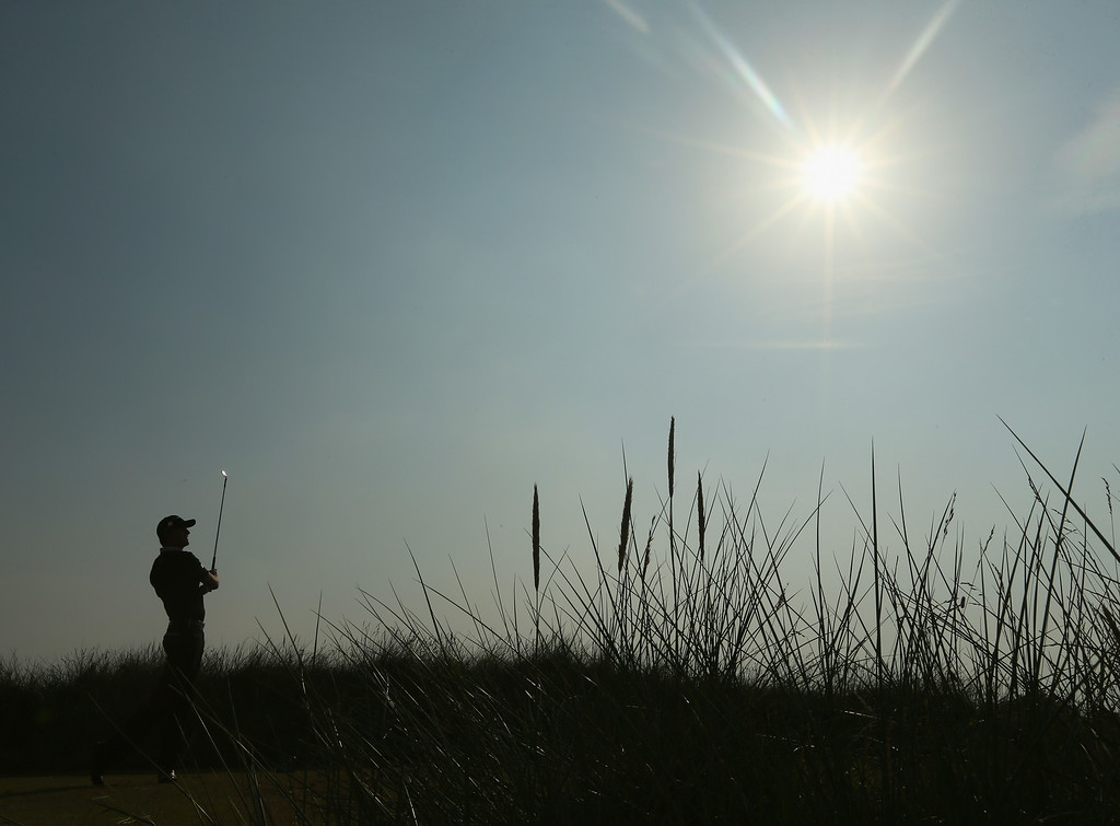 . HOYLAKE, ENGLAND - JULY 18:  Jimmy Walker of the United States watches his tee shot on the 13th hole during the second round of The 143rd Open Championship at Royal Liverpool on July 18, 2014 in Hoylake, England.  (Photo by Mike Ehrmann/Getty Images)