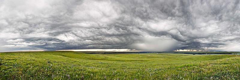 Flint Hills Cloudburst Pano