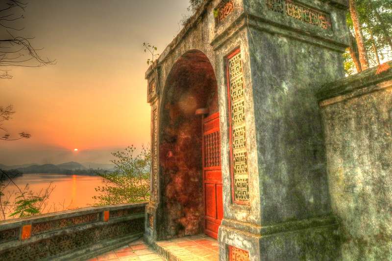 Sunset along the Perfume River - Hue