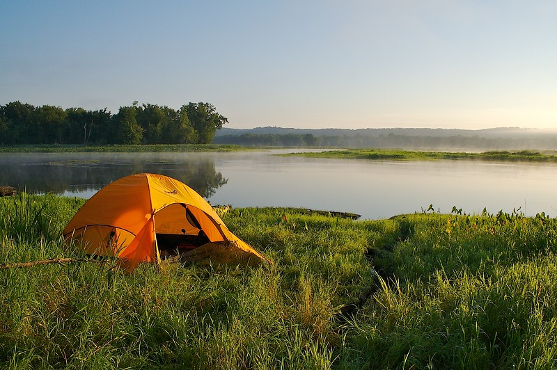 Campsite on the St Croix River