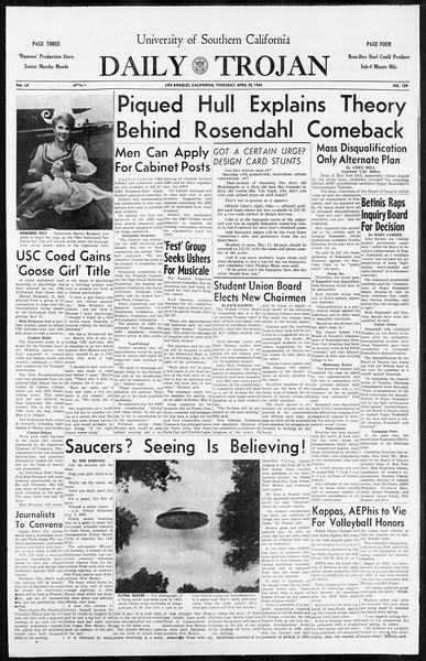 Daily Trojan, Vol. 55, No. 109, April 30, 1964