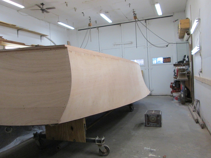 Rear port view of sanded side.