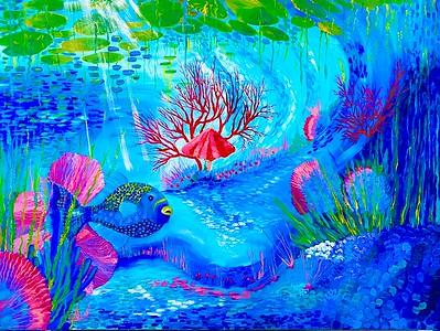 """""""Euphoria"""" (acrylic) by Zainab Cadinouche"""