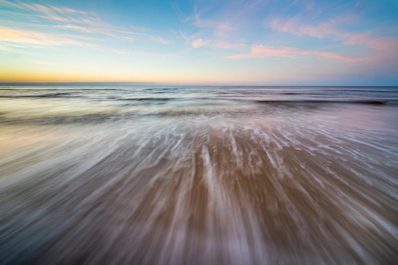 Waves at Sunrise on Cape San Blaas