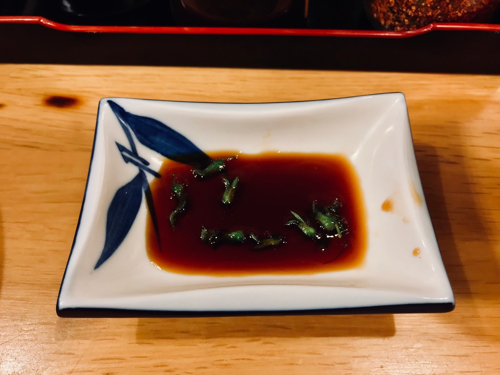 Perilla buds in soy sauce.
