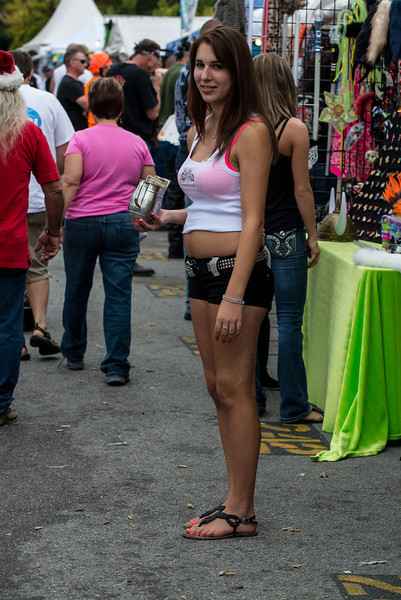 She was selling something.
