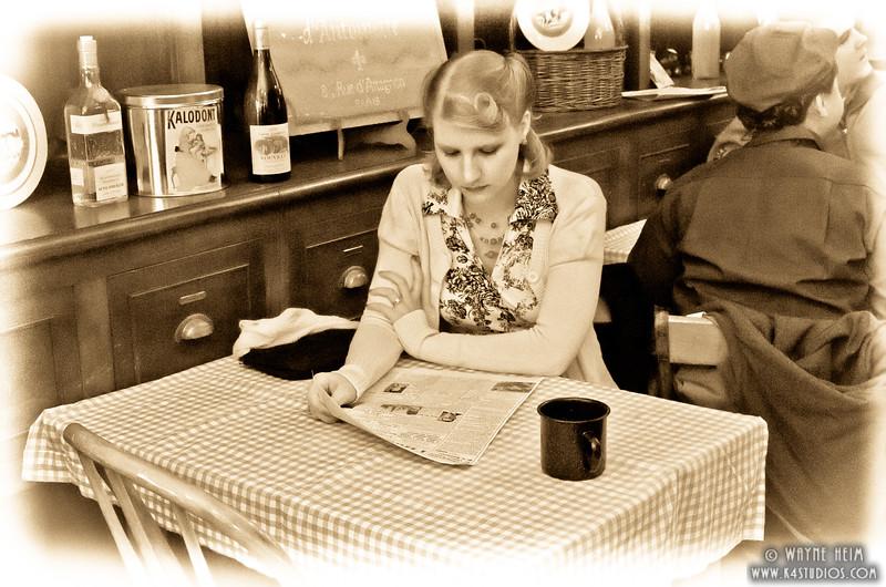 Getting the News     Photography by Wayne Heim