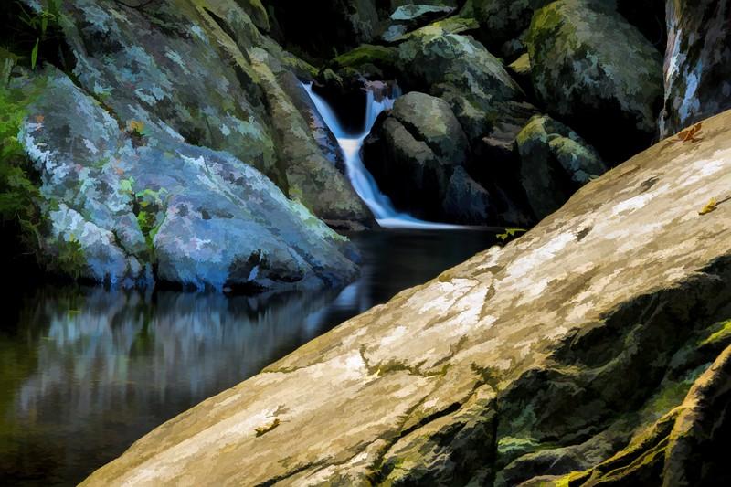Small Waterfall, Cairns, Queensland, Australia-Simplify-BuzSim III.jpg