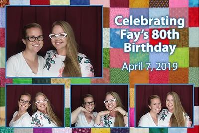 Fay's 80th Celebration