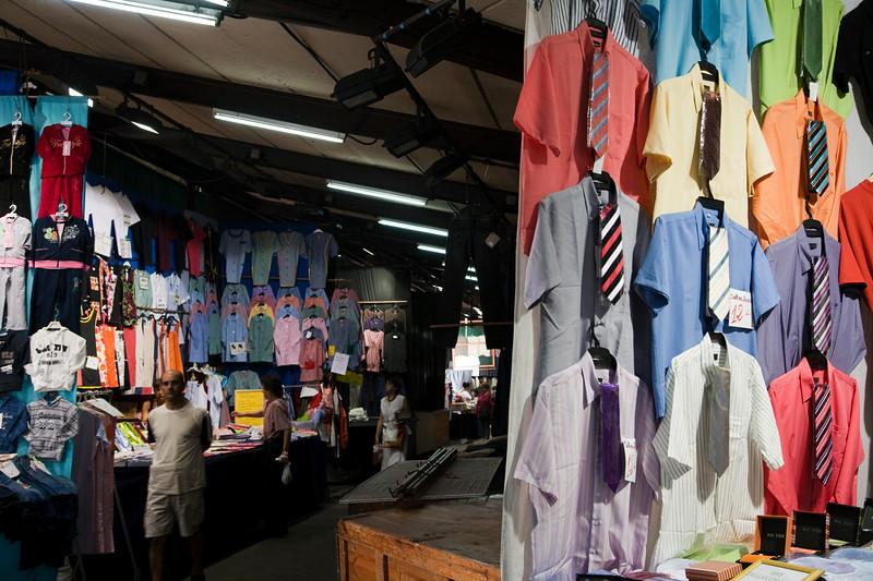 Cloth stand, Sant Antoni market, town of Barcelona, autonomous commnunity of Catalonia, northeastern Spain