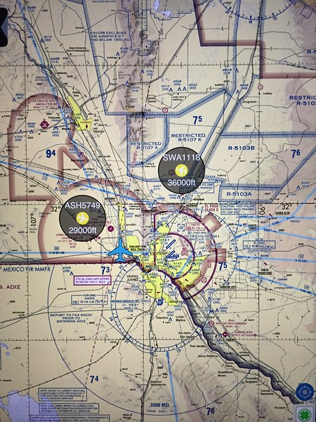 Screen shot showing a couple targets on sectional chart