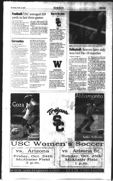 Daily Trojan, Vol. 150, No. 42, October 24, 2003