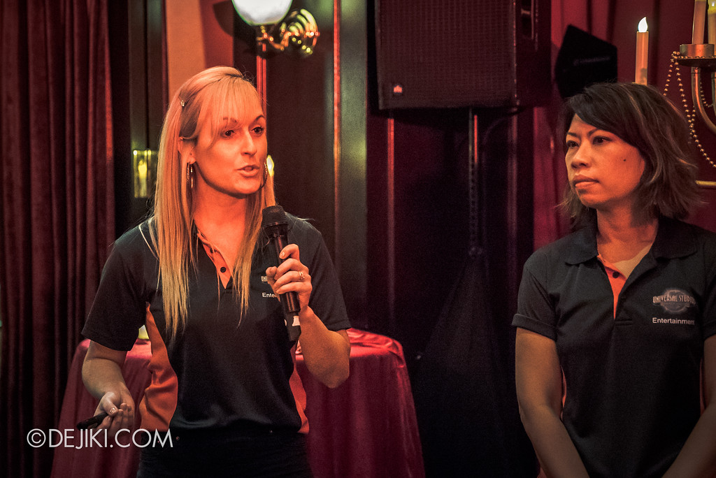 Halloween Horror Nights 8 Press Conference - Gemma and Michele from USS Entertainment