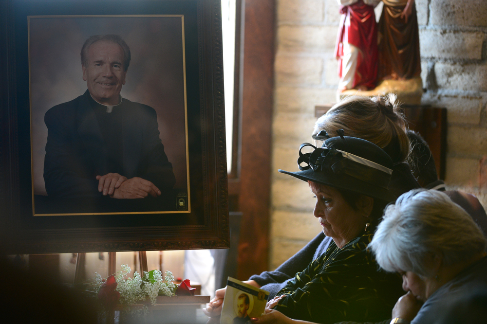 . Funeral services were held for Father Tomas Fraile at St. Cajetan Church at 299 South Raleigh St. in Denver, Co on March 26, 2014.  Hundreds of people turned out to pay their last respects for the popular father.  (Photo By Helen H. Richardson/ The Denver Post)