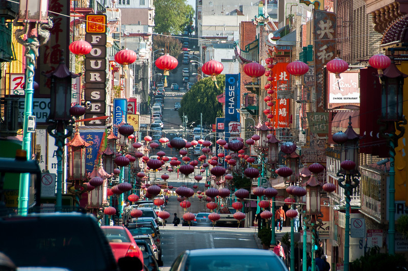 Traditional lamps in Chinatown, San Francisco, California