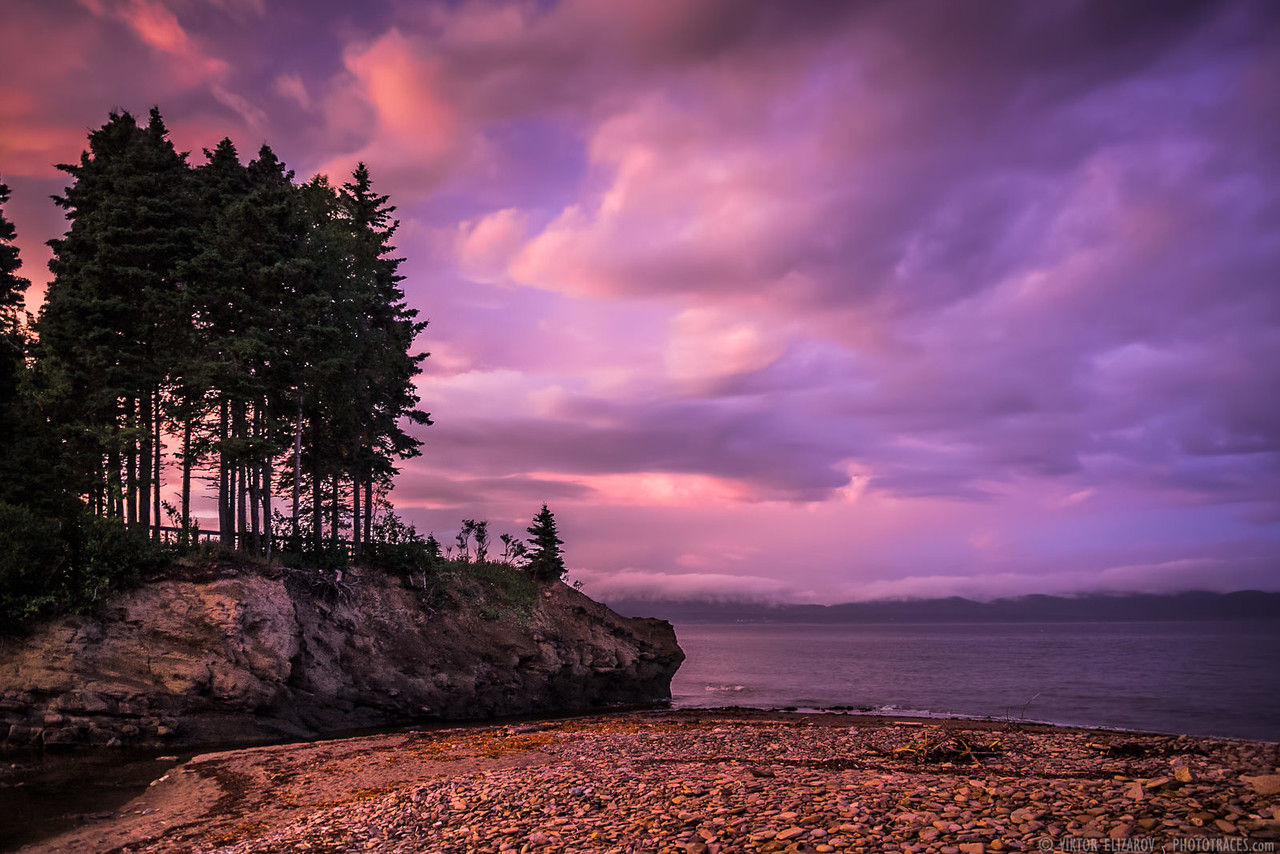 Purple Sunset in Gaspe Bay (Quebec)