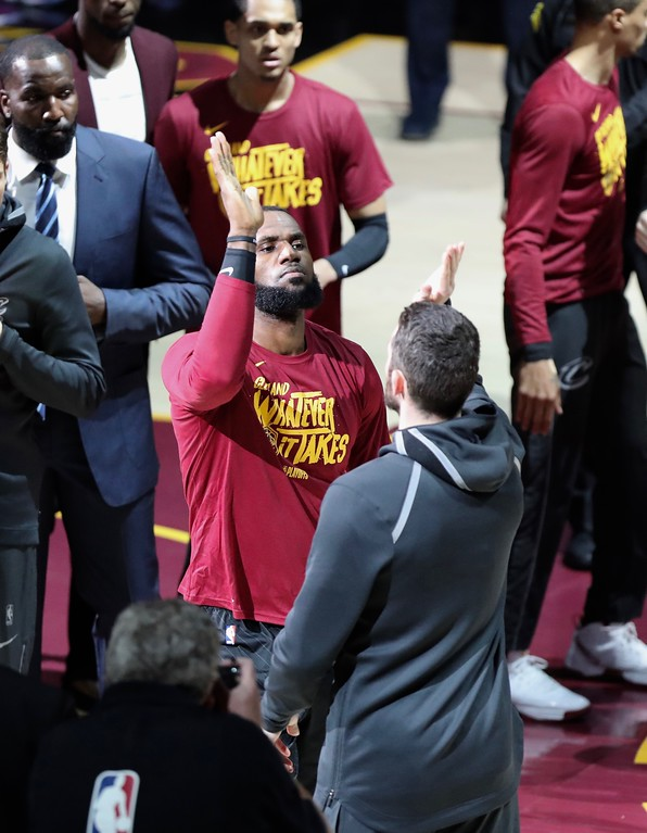 . Tim Phillis - The News-Herald Photos from the Cavaliers vs. Pacers first-round playoff game April 15, 2018.