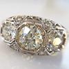 1.69ctw Art Deco Old European Cut 3-Stone Ring 0