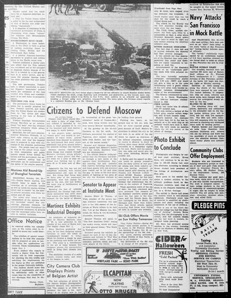 Daily Trojan, Vol. 33, No. 25, October 15, 1941