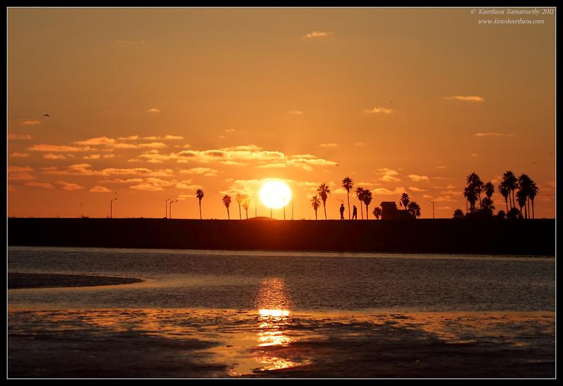 Sunset at Dog Beach, Robb Field, San Diego River, San Diego County, California, July 2011