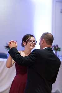 Father Daughter Parent Dance Pam Krzyzek & Nathaniel Nate Gogal New England Wedding- Bride Groom Candid Formal Bridal Church Ceremony Fun Portrait Photographer Lifestyle Photojournalism Local Small Business Kimberly Hatch Photography St Mary's Holyoke Spr
