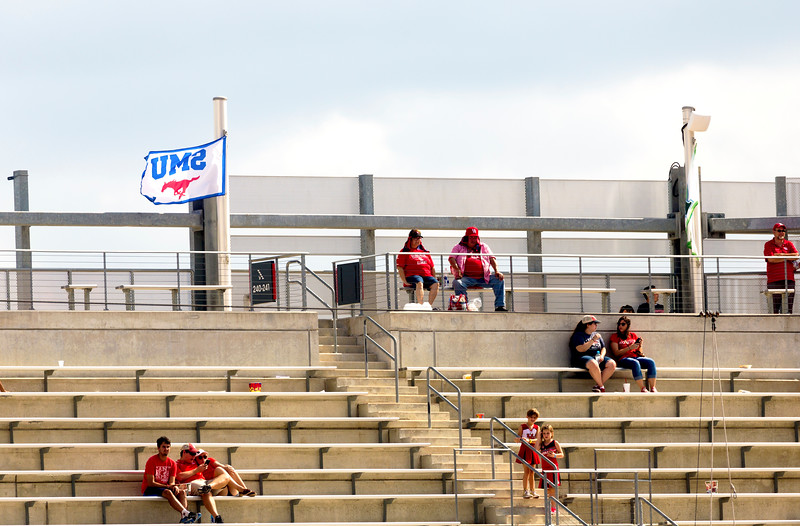 Some of the faithful in the high seats stay with UH to the end.