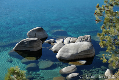 Boulders, Sand Harbor, Lake Tahoe, Nevada, winter
