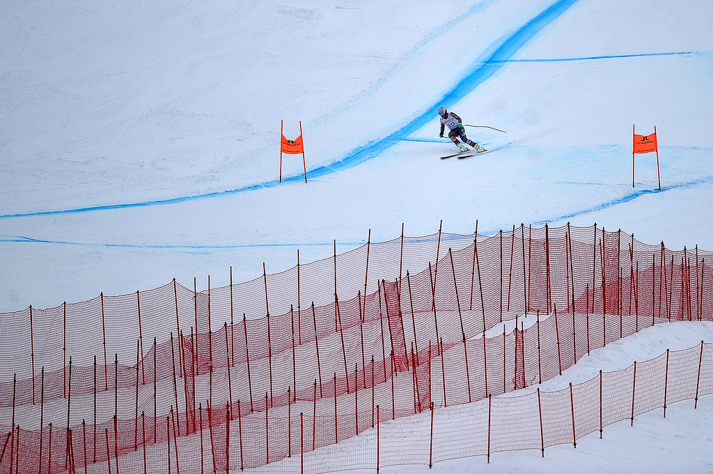 . BEAVER CREEK, CO - FEBRUARY 03: USA skier Bode Miller competes during the the men\'s downhill training. FIS Alpine World Ski Championships 2015 on Tuesday, February 3, 2015. (Photo by AAron Ontiveroz/The Denver Post)