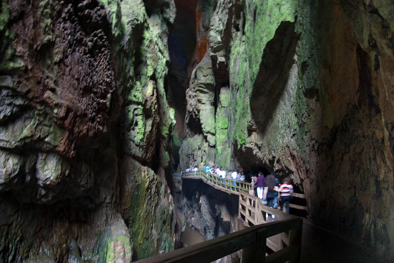 Notice the magnitude of the caves.