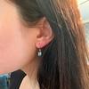 4.20ctw Blue Zircon Dangle Earrings 14