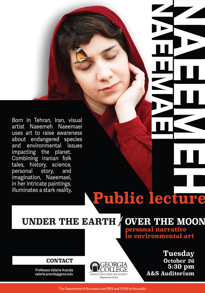 Poster announcement for Naeemeh Naeemaei-Public Lecture