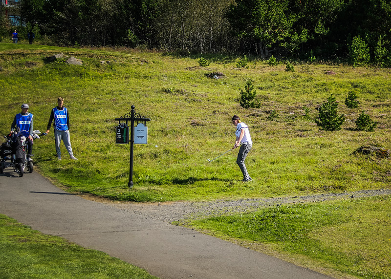 Sigurður Arnar Garðarsson.  Íslandsmót golf 2019 Grafarholt - 1. keppnisdagur. Mynd: seth@golf.is
