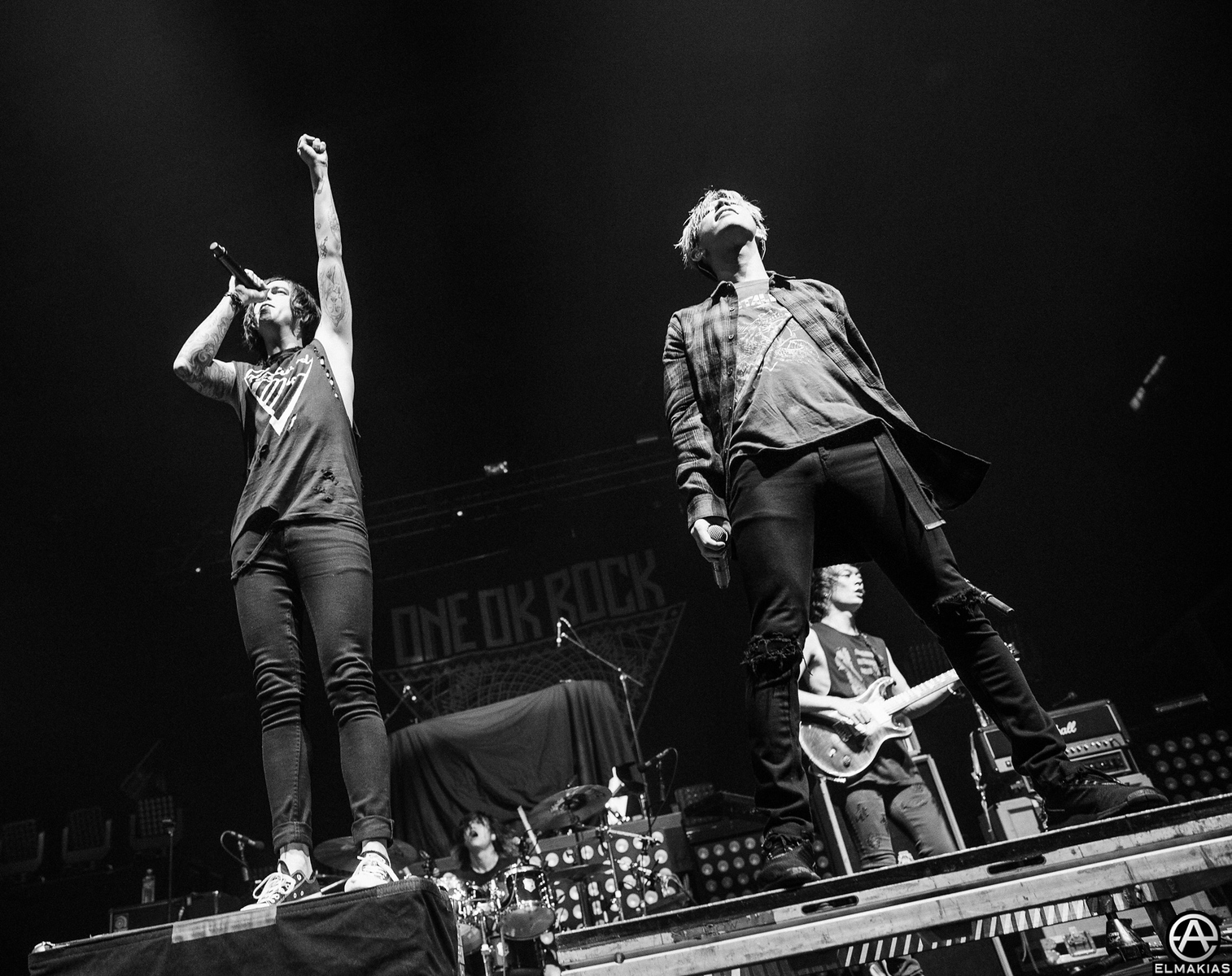Kellin Quinn and Takahiro Moriuchi during the Back To The Future Hearts Tour