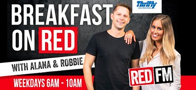 Breakfast on RED with Alana and Robbie (photo credit: RED FM)