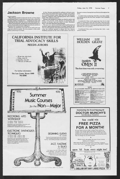 Summer Trojan, Vol. 74, No. 2, June 16, 1978